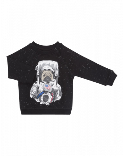 Petit by Sofie Schnoor Sweatshirt Blue Melange Dog