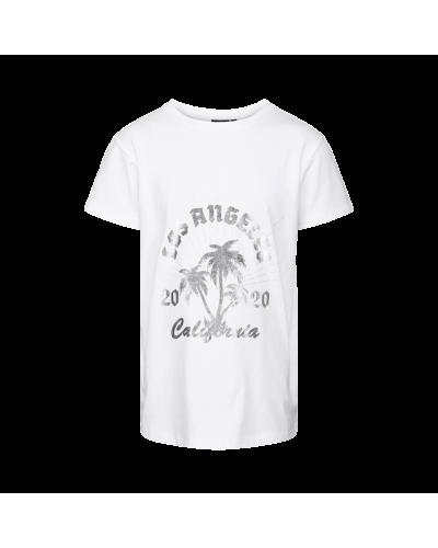 T-shirt Felina hvid m. sølv