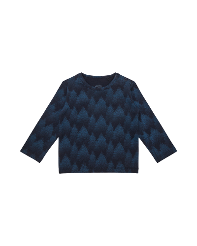 T-shirt LS Sebastian Middle Blue