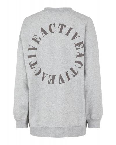 Oversize Sweatshirt Light Grey Melange M. Print /Active