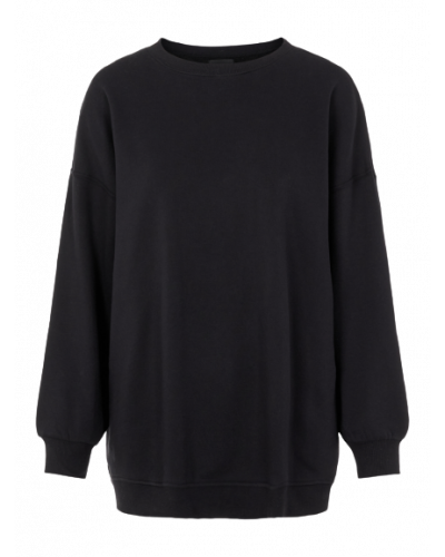 Chilli LS Oversized Sweatshirt D2D  Black
