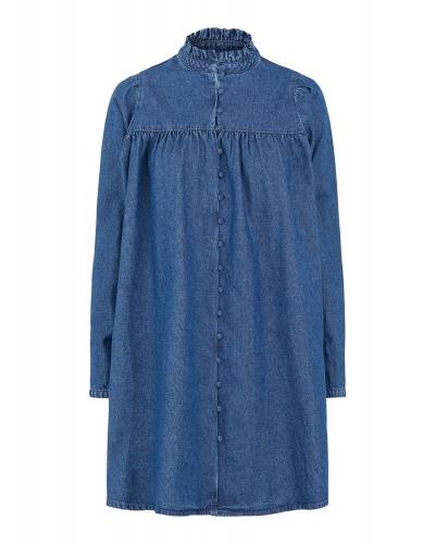 Fifi Kjole Medium Blue Denim