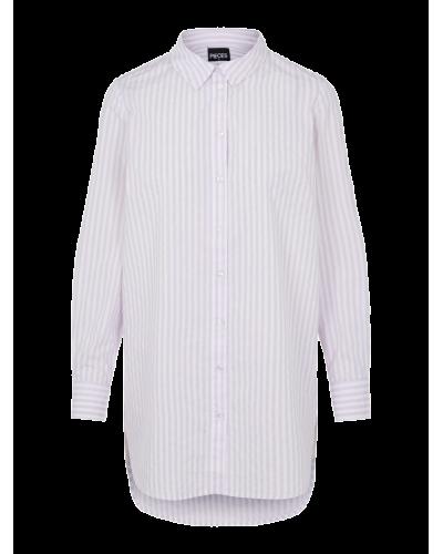 Heridan Lang Skjorte Bright White Orchid Bloom