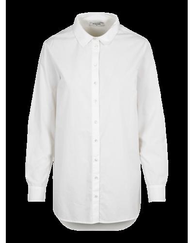 Lang Skjorte Siva Hvid