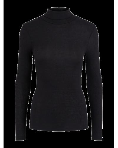 LS Rollneck Bluse Black