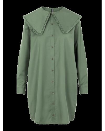 Marly LS Shirt Dress D2D Garden Green