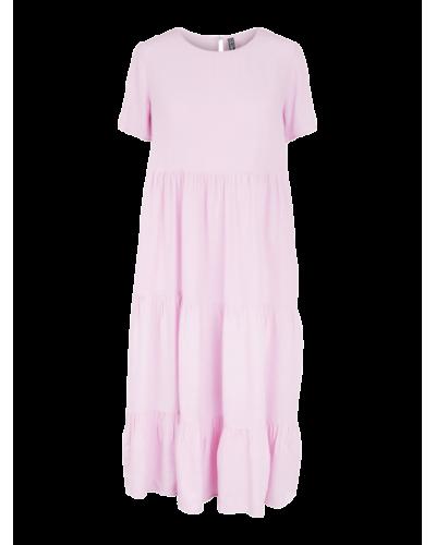 Solida SS Midi Dress D2D Lilac Chiffon