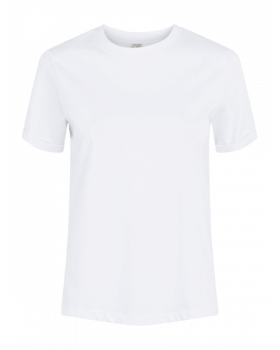 SS Fold Up Solid T-shirt Bright White