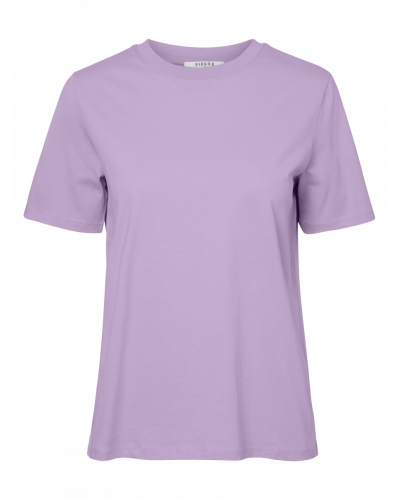 SS Fold Up Solid T-shirt Orchid Bloom