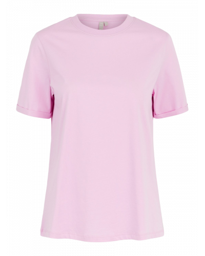 SS Fold Up Solid T-shirt Pastel Levander