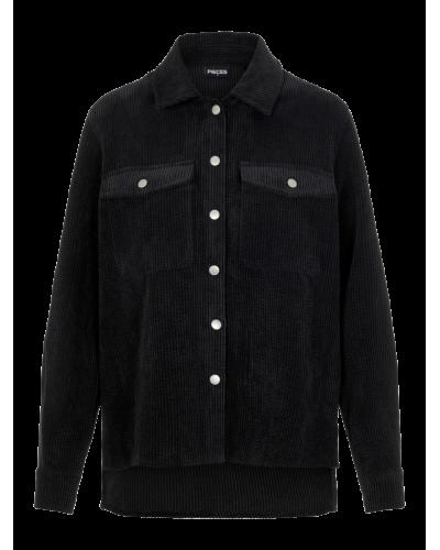 Steffi LS Corduroy Shirt Black