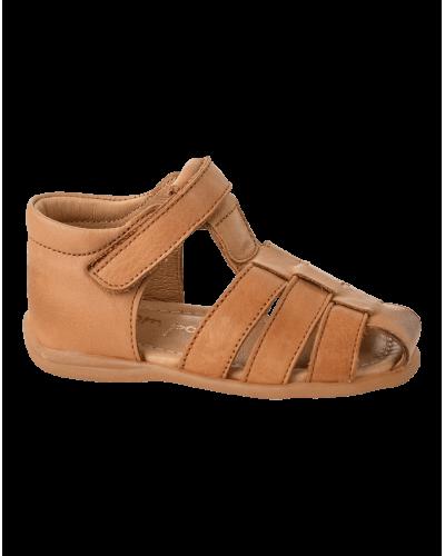 Pom Pom Starter Sandal Camel