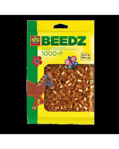 Perler 1000 stk. brun