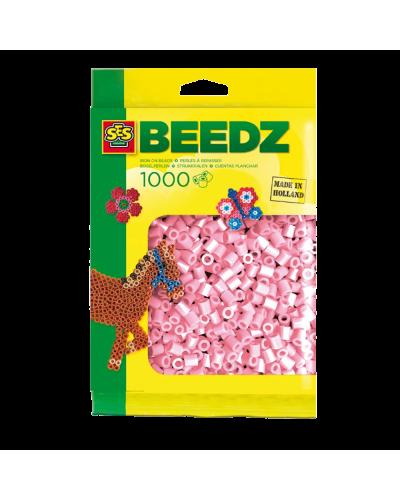 Perler 1000 stk. metal pink