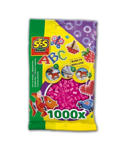 Perler 1000 stk. neon pink