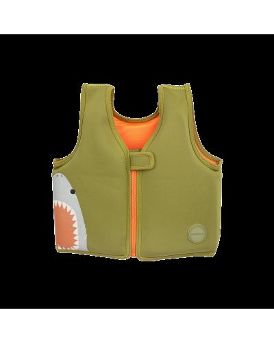 Svømmevest Shark Attack Olive 2-3
