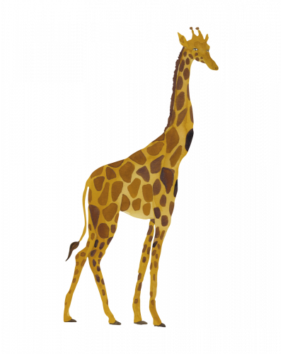 That's Mine Vægdekoration Stor Giraf