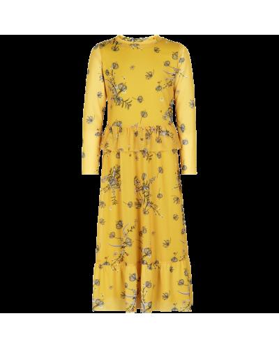 Paddie mesh kjole maize
