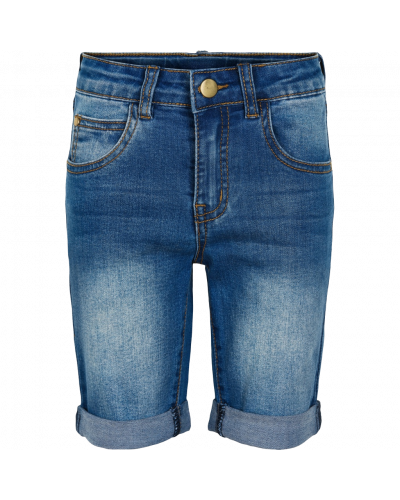 slim short blue denim