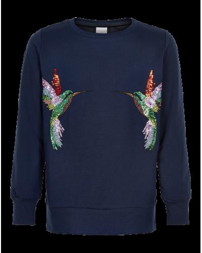 The New Olympia Sweatshirt Black Iris