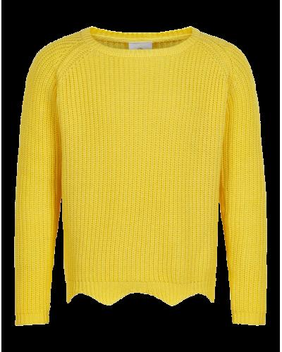 Olly Strik Sweatshirt Gul