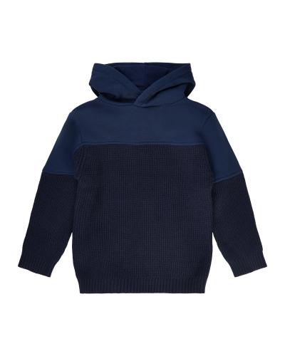 Villiam Knit Hoodie Navy Blazer