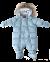 Baby Flyverdragt m. Pels Polar Blue