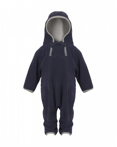 Fleece babydragt Doubleface Navy