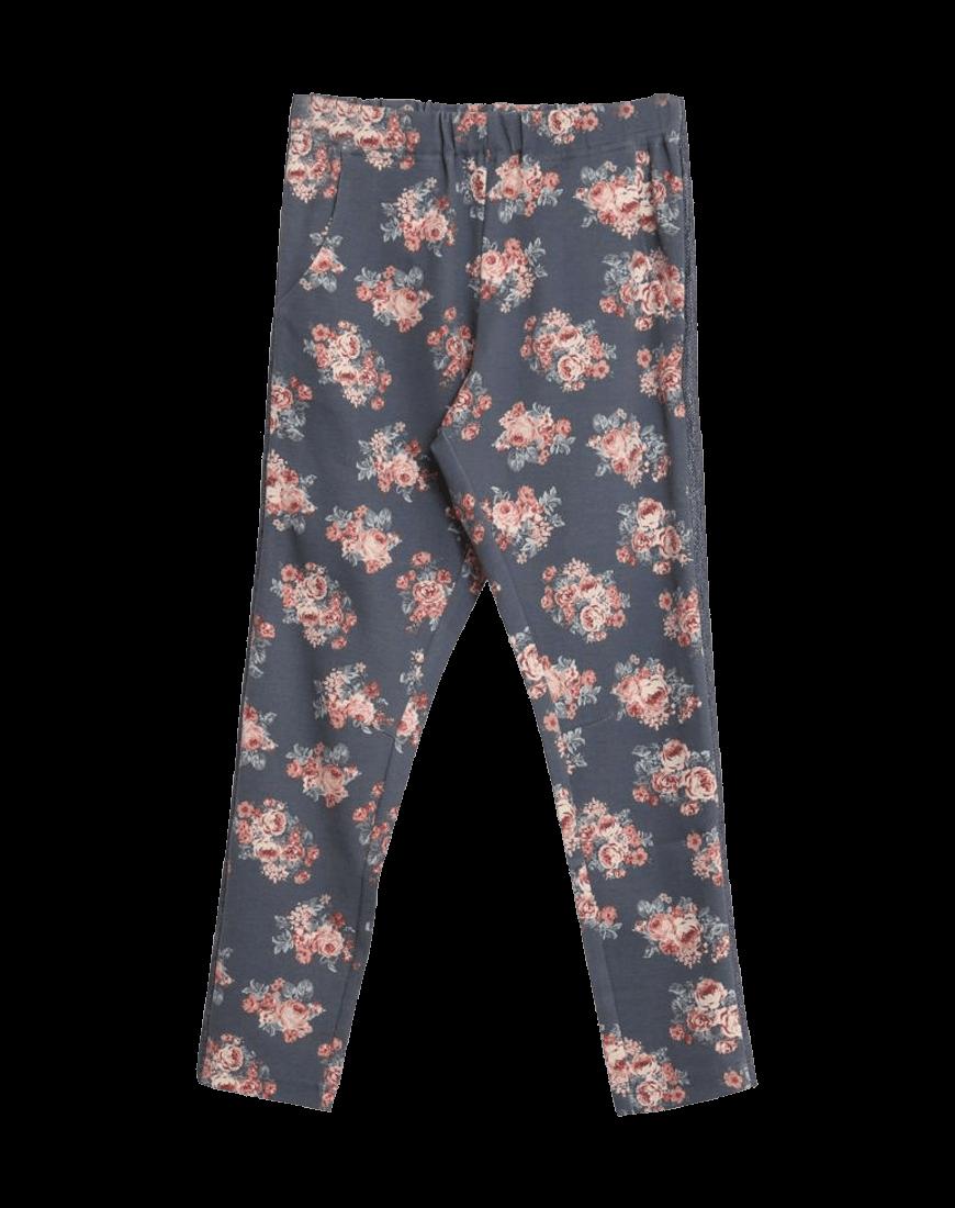 Wheat Bukser Emma Gråblå Blomster