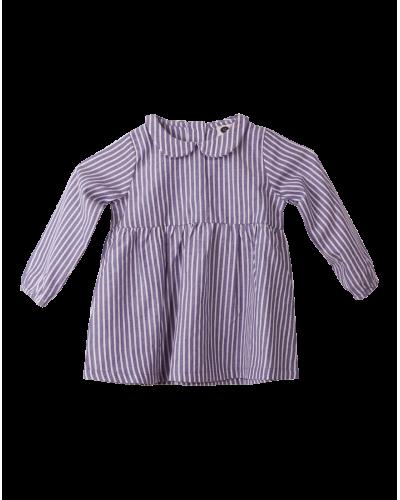 Kerstin Kjole Blue Stripe