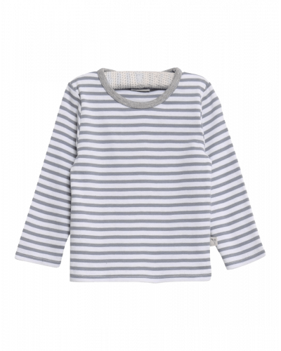 Wheat Langærmet T-shirt Stribet Grå