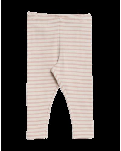 Wheat Rib Leggings Powder Stripe