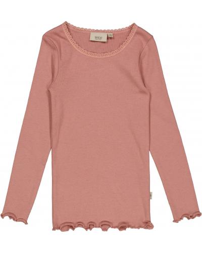 Rib T-shirt Lace LS Rose Cheeks
