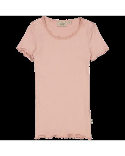 Rib T-Shirt Misty Rose