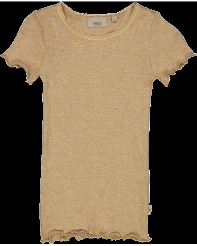 Rib T-Shirt Sand Melange