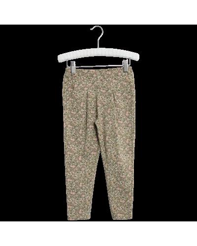 Soft Pants Abbie Green Flowers