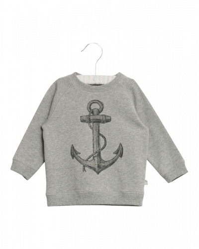 Wheat Sweatshirt Anchor Grey Melange