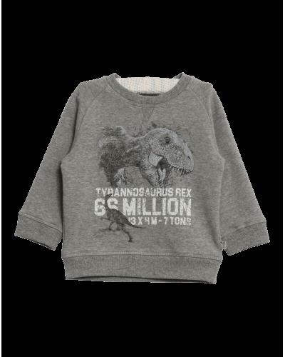 Wheat Sweatshirt Dinosaur Grå Melange