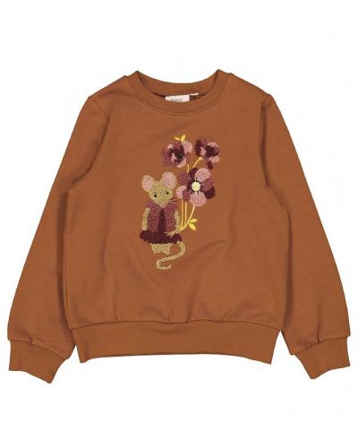 Sweatshirt Mouse Terry Cinnamon