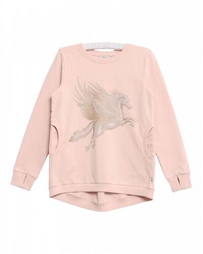 Wheat Sweatshirt Pegasus Glitter Pudder