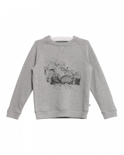 Wheat Sweatshirt Race Melange Grey