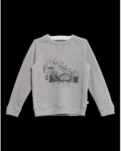 Sweatshirt Race Melange Grey