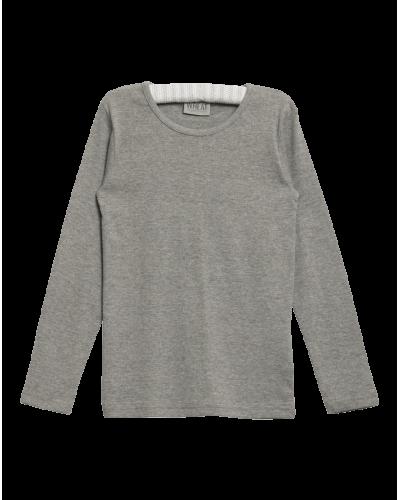 Wheat T-shirt Basis Grey Melange