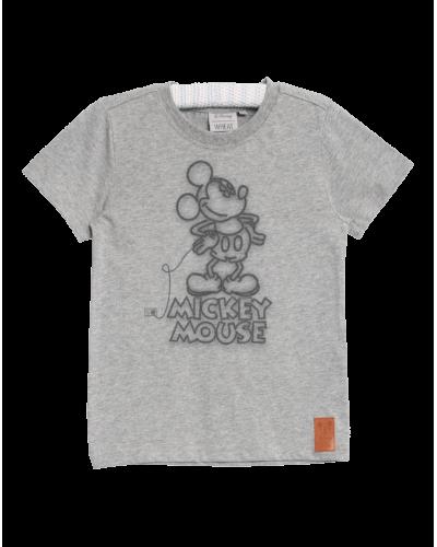 Wheat T-shirt Mickey Neon Melange Grey