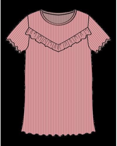 Rib T-shirt Flæse Soft Peach Rose
