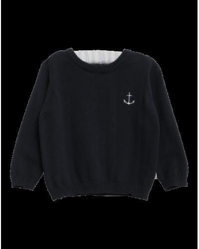 Wheat Strik Pullover Anchor Navy