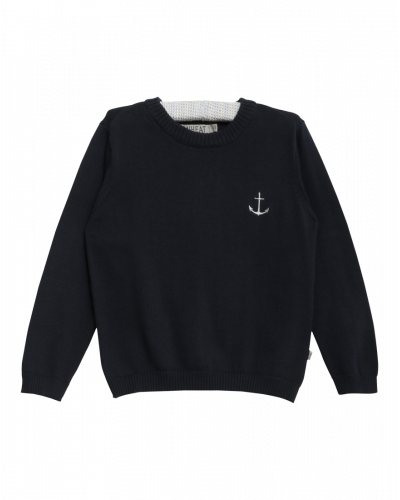 Wheat Strik Pullover Navy Anchor