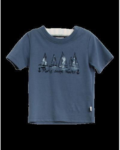 T-shirt Ships Blue Denim