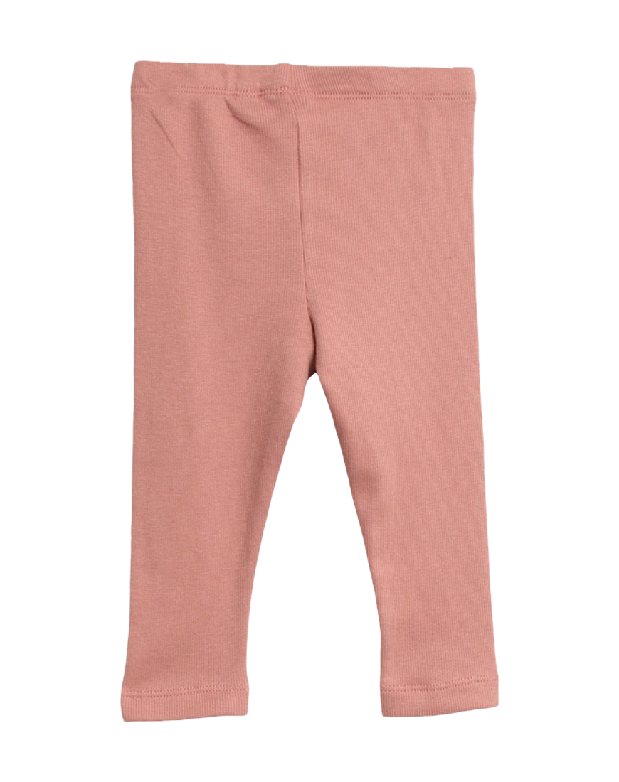 Rib Leggings Soft Peach Rose