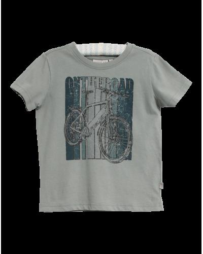 Wheat T-shirt Lead Blue